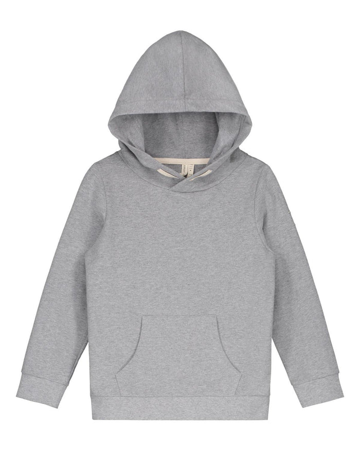 Little gray label boy 2-3 classic hooded sweater in grey melange