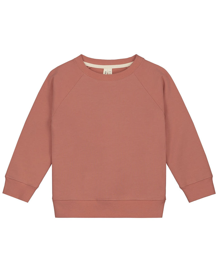 Little gray label boy crewneck sweater in faded red