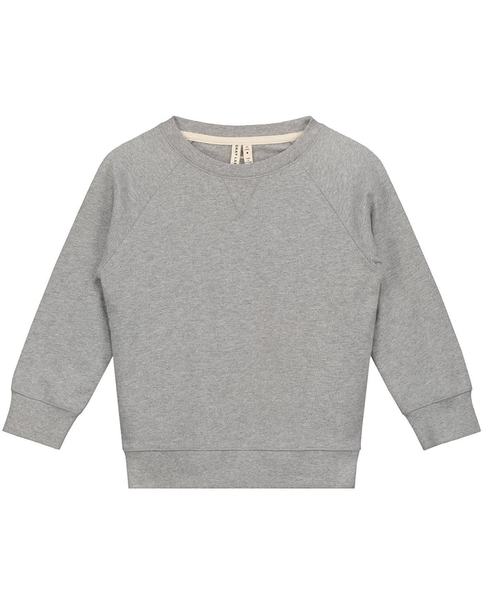 Little gray label boy crewneck sweater in grey melange