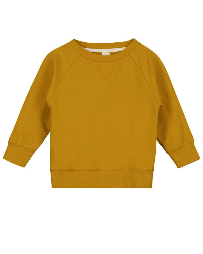 Little gray label girl 2-3 crewneck sweater in mustard