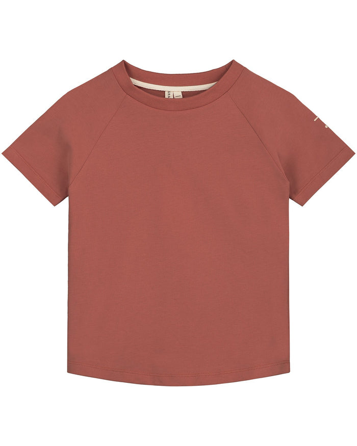 Little gray label boy crewneck tee in faded red