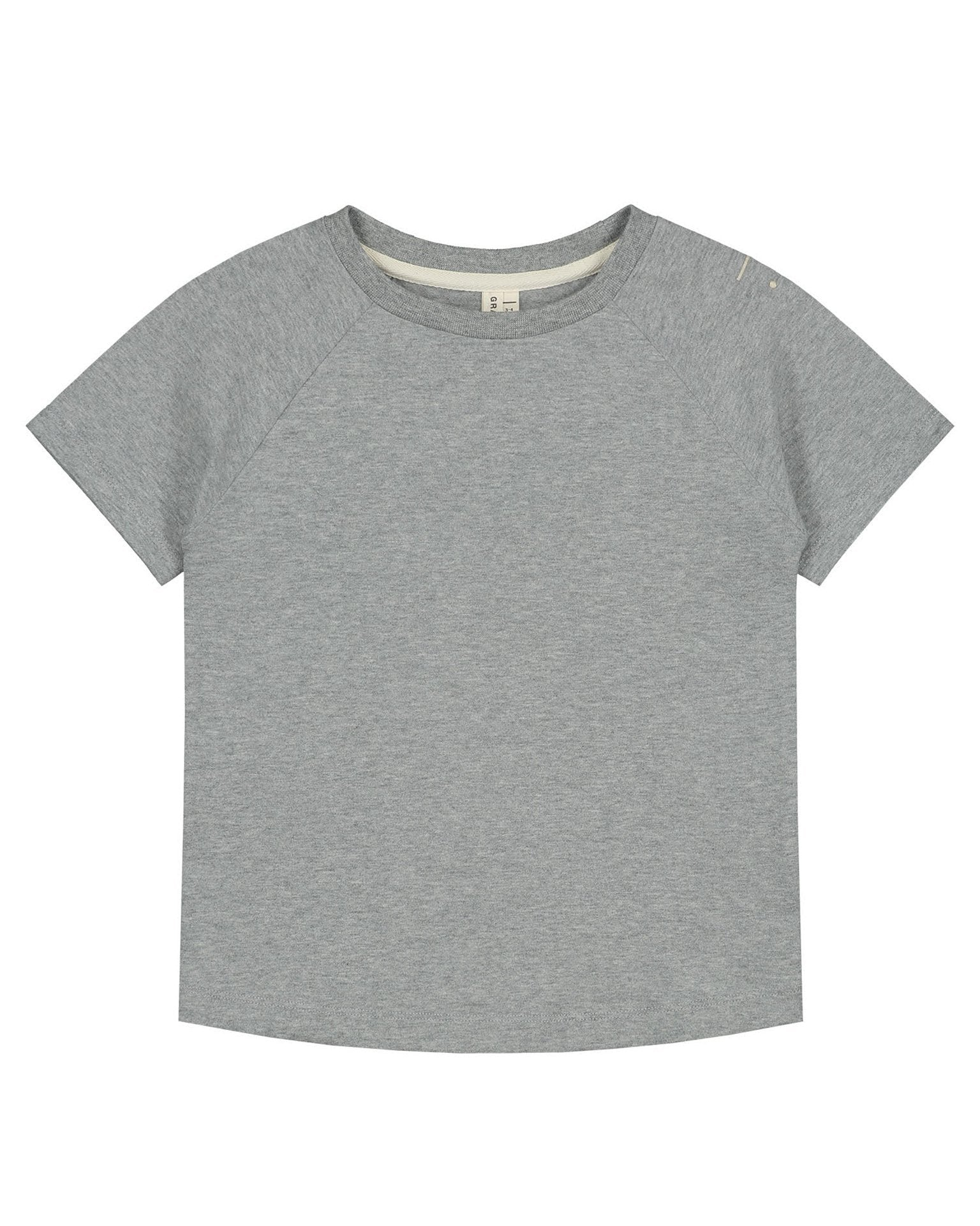 Little gray label boy crewneck tee in grey melange