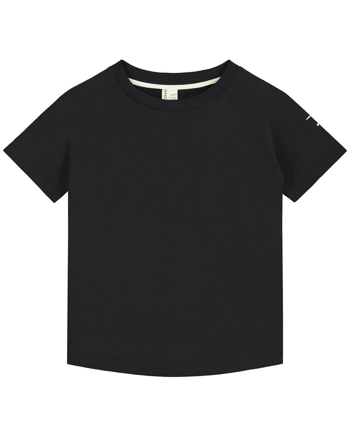 Little gray label boy crewneck tee in nearly black