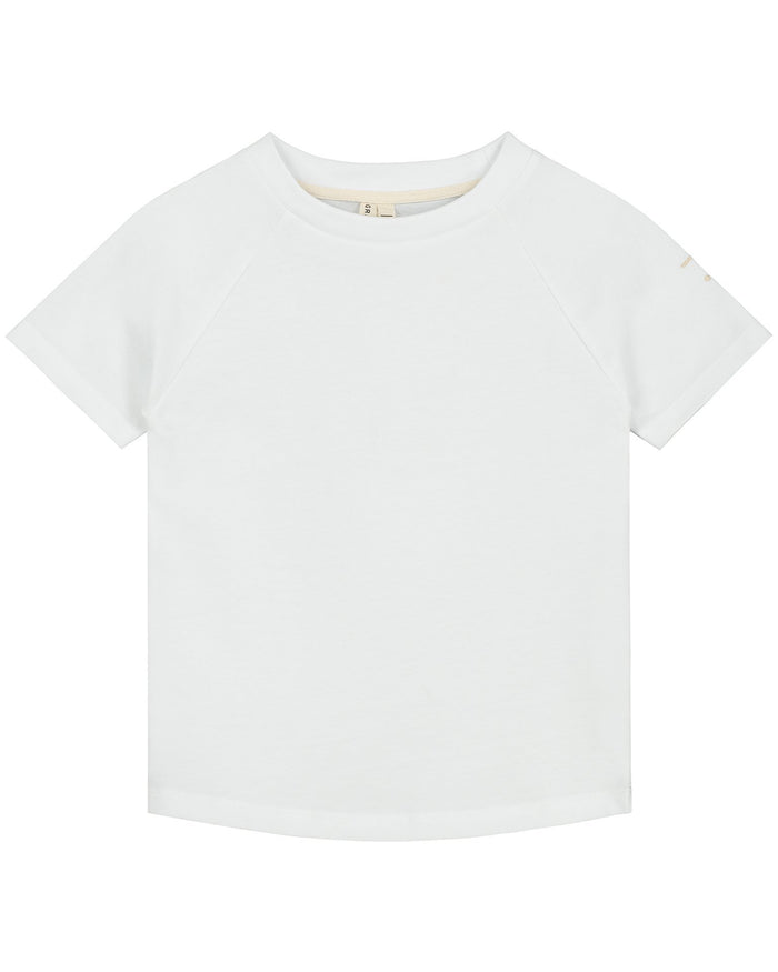 Little gray label girl crewneck tee in white