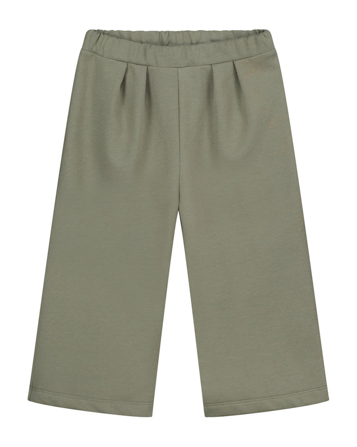 Little gray label baby boy culotte in moss