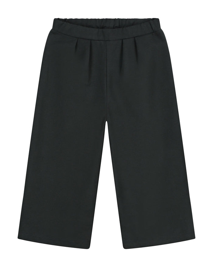 Little gray label baby boy culotte in nearly black