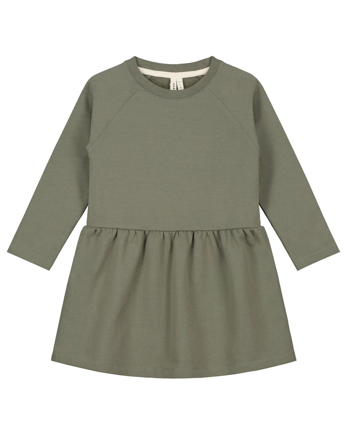 Little gray label baby girl dress in moss