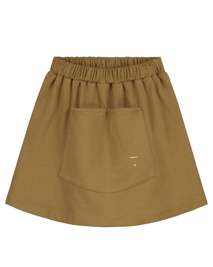 Little gray label girl front pocket skirt in peanut