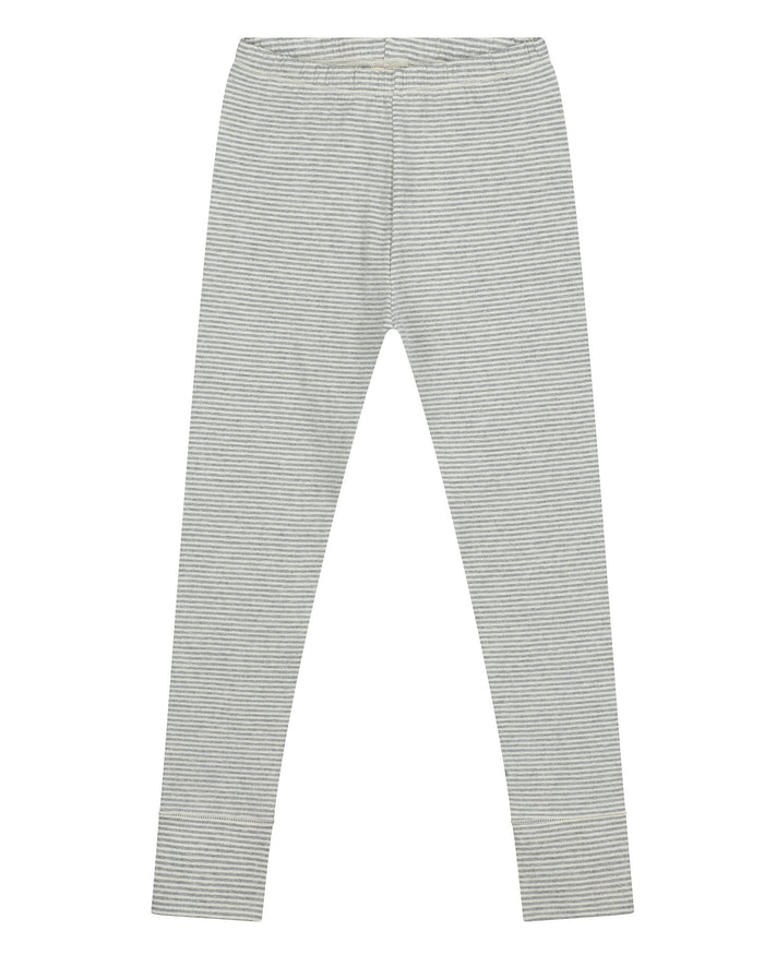 Little gray label girl leggings in grey melange + cream
