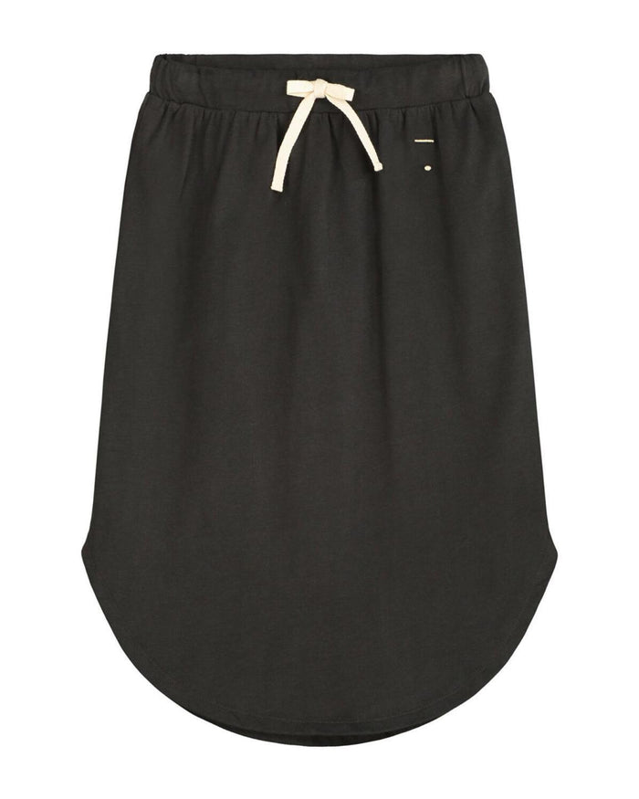 Little gray label girl 2-3 long moon skirt in nearly black