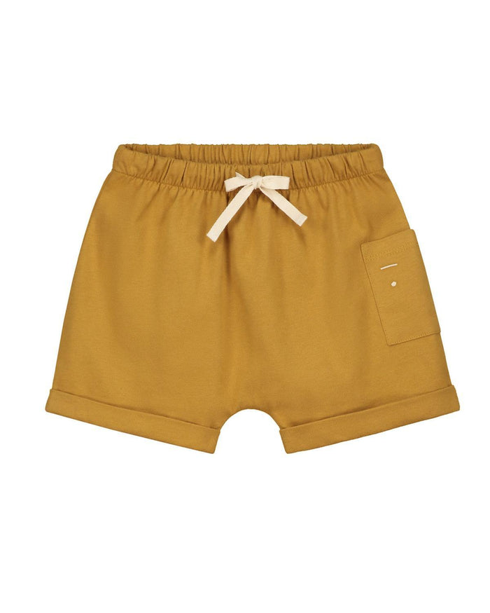 Little gray label girl 2-3 one pocket shorts in mustard