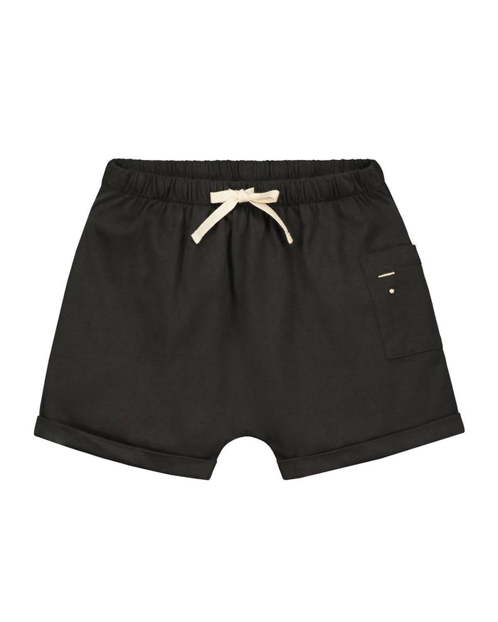 Little gray label boy 12-18 one pocket shorts in nearly black