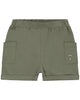 Little gray label boy relaxed pocket shorts in moss