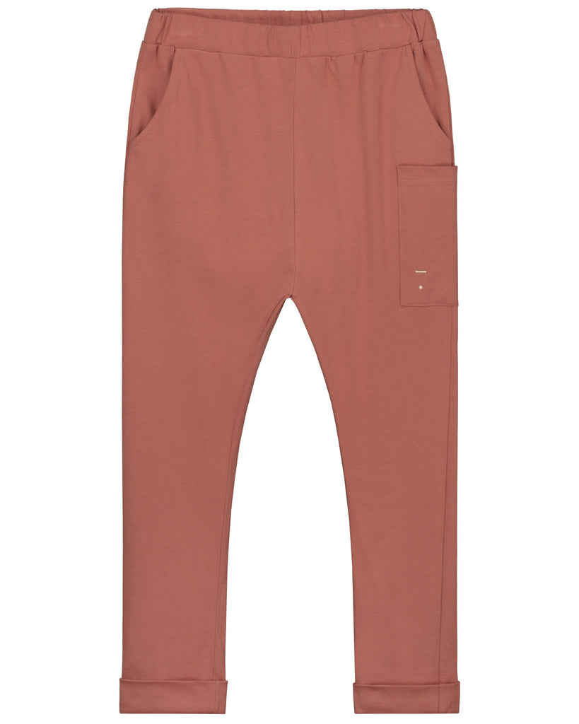 Little gray label boy relaxed pocket trousers in faded red