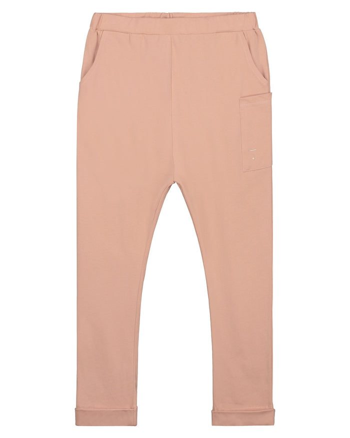 Little gray label boy relaxed pocket trousers in rustic clay