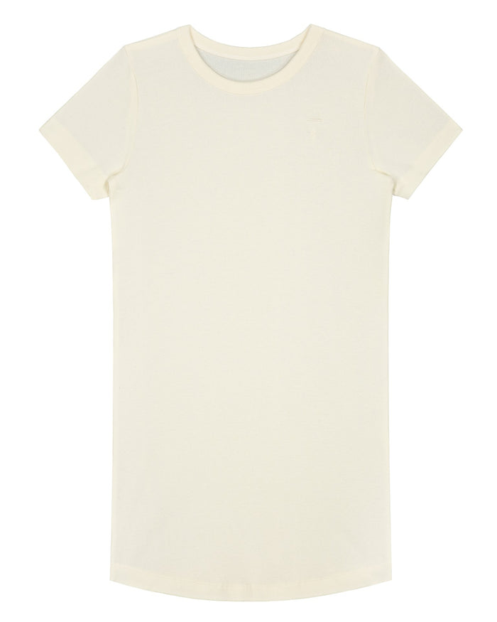 Little gray label girl sleep shirt in cream