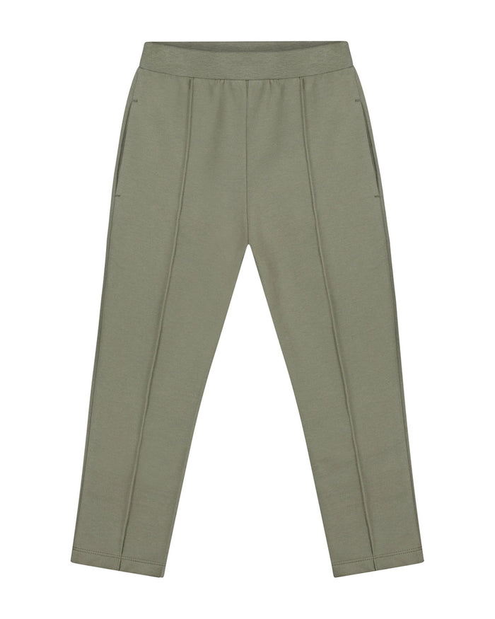 Little gray label boy slim fit trousers in moss