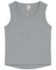 Little gray label girl tank top in grey melange