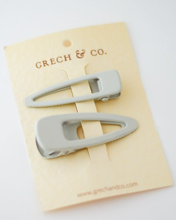 Little grech + co accessories matte clips set of 2 in buff