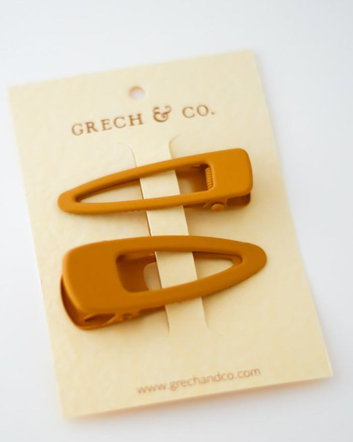 Little grech + co accessories matte clips set of 2 in golden