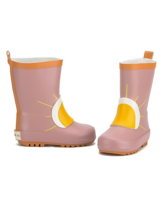Little grech + co girl sun rubber boot in burlwood