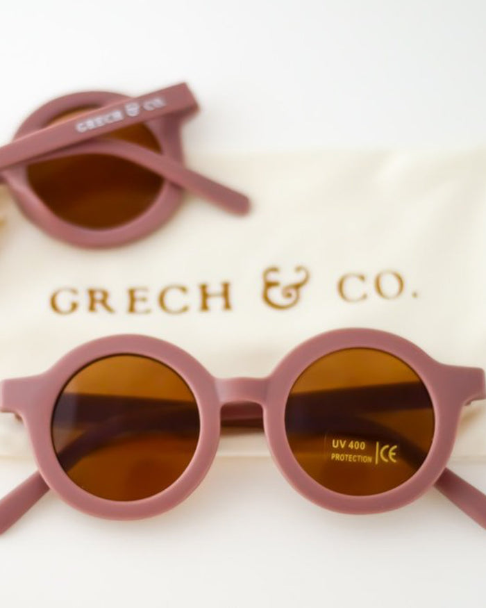 Little grech + co accessories sustainable sunglasses in burlwood