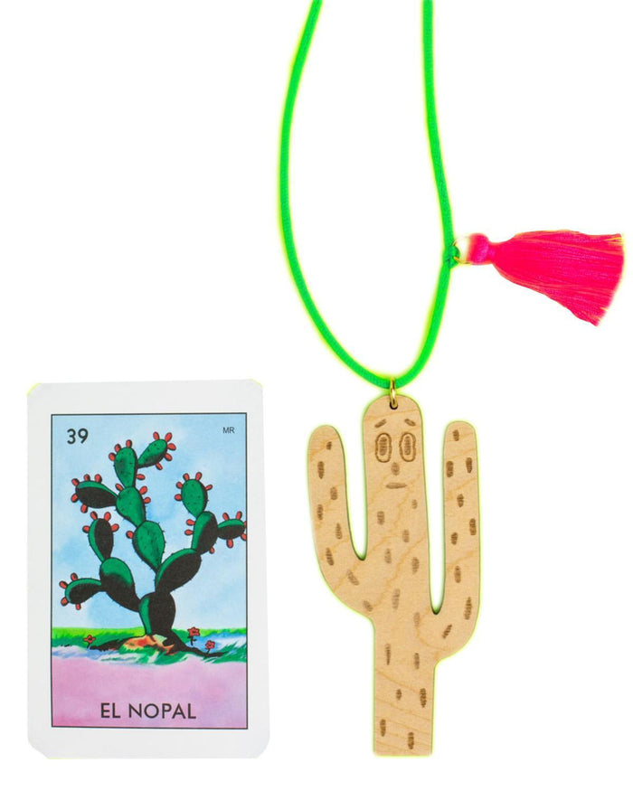 Little gunner + lux accessories Cactus Necklace