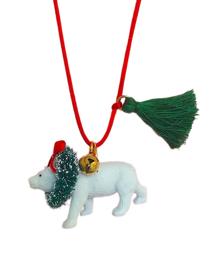 Little gunner + lux accessories Holiday Polar Bear Necklace
