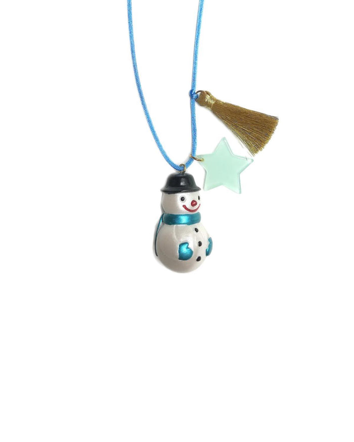 Little gunner + lux accessories Holiday Snowman Necklace