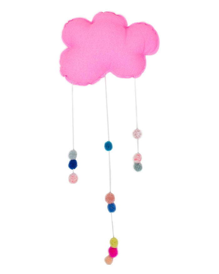 Little h-luv room Large Pompom Cloud in Pink