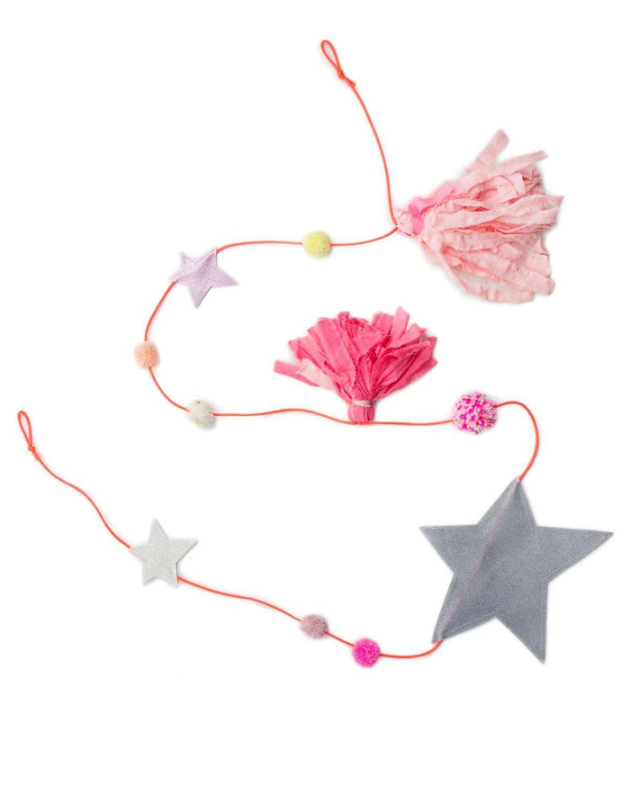 Little h-luv room large star tassel garland in pink