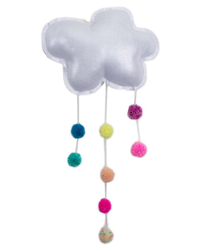 Little h-luv room medium pom pom cloud in silver