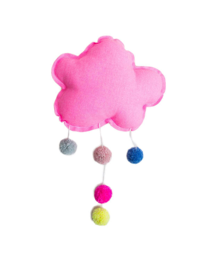 Little h-luv room small pom pom cloud in neon pink
