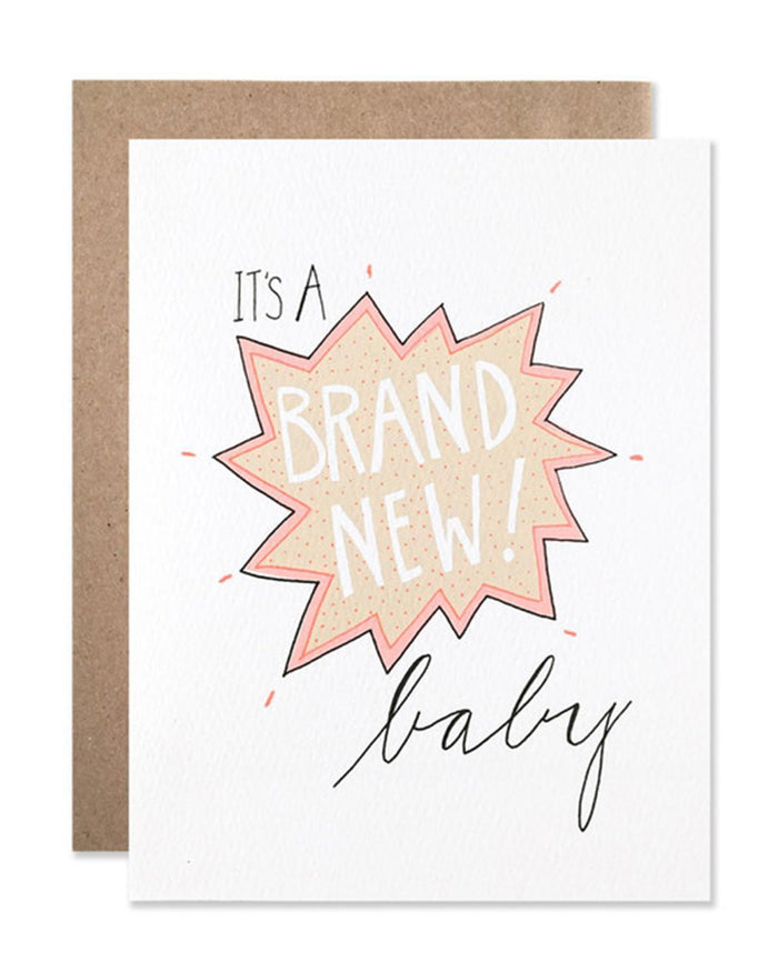 Little hartland brooklyn paper+party Brand New Baby Card