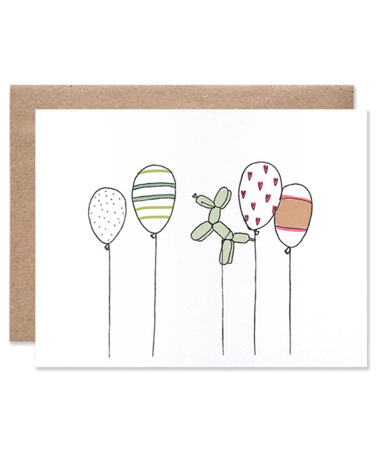 Little hartland brooklyn paper+party Celebratory Balloons Card