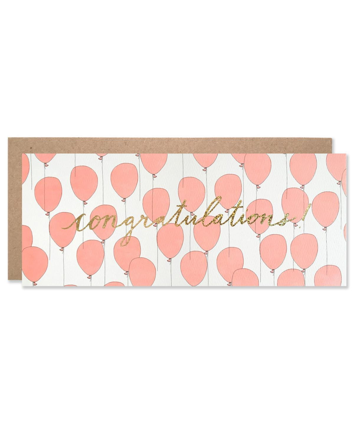 Little hartland brooklyn paper+party Congratulations Balloons with Gold Glitter Foil