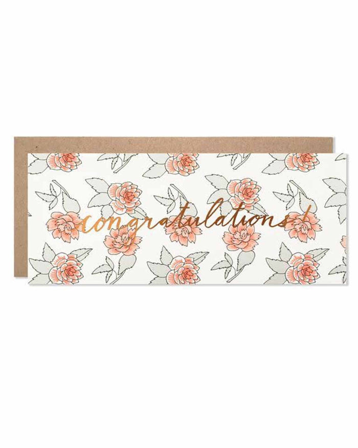 Little hartland brooklyn paper+party congratulations roses with copper foil