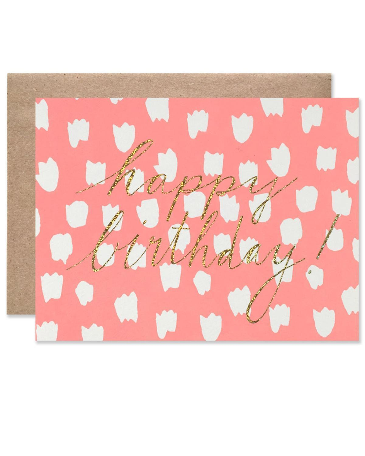 Little hartland brooklyn paper+party Dot + Glitter Birthday Card