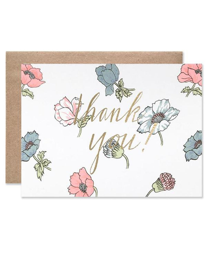 Little hartland brooklyn paper+party Floral Thank You Card