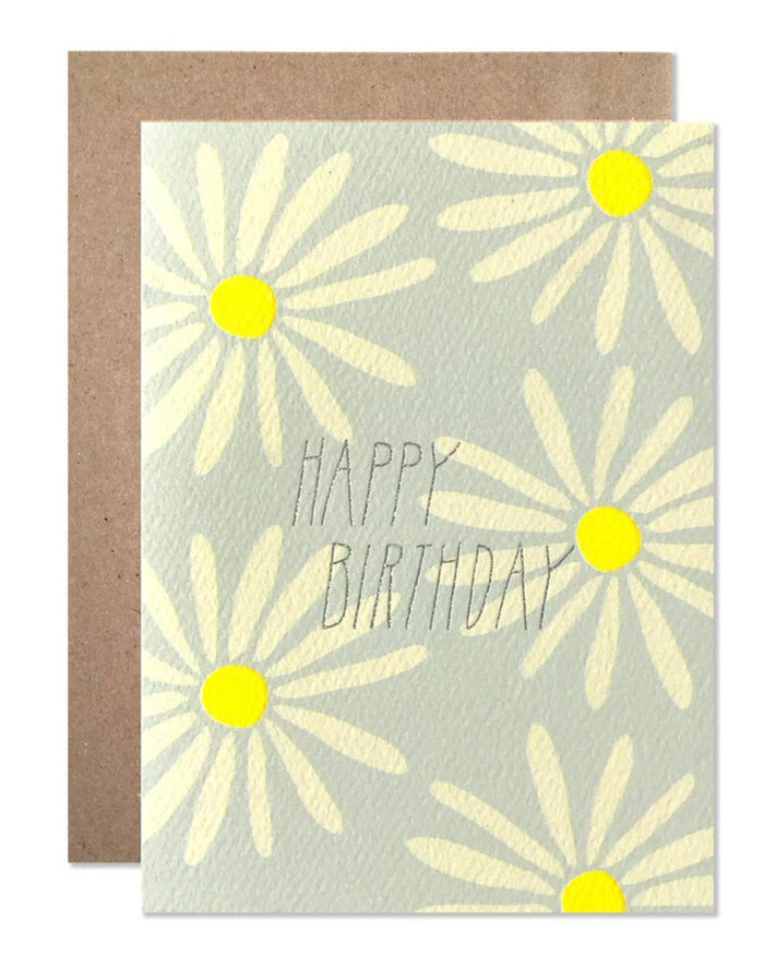 Little hartland brooklyn paper+party Glitter Daisies Card