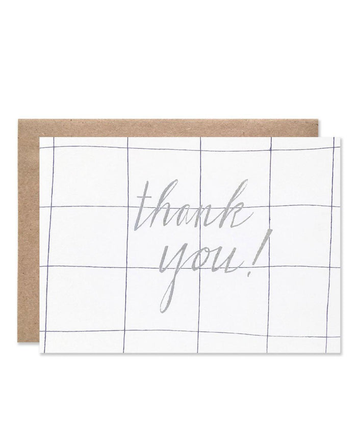 Little hartland brooklyn paper+party Grid Thank You Card