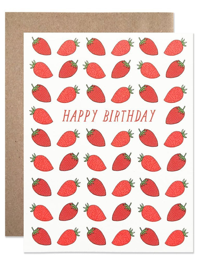 Little hartland brooklyn paper+party happy birthday strawberry card