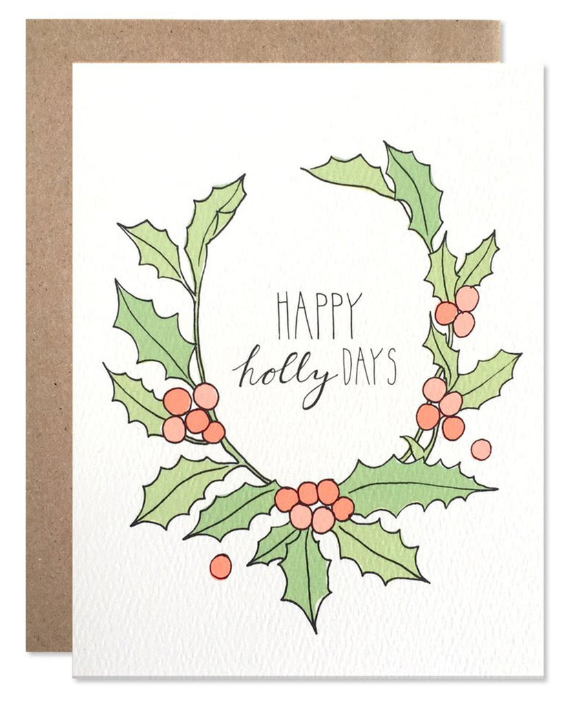 Little hartland brooklyn paper+party Happy Holly Days Card