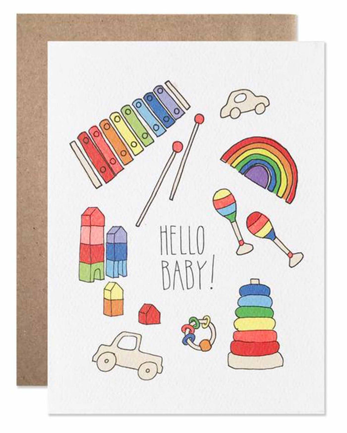 Little hartland brooklyn paper+party hello baby card