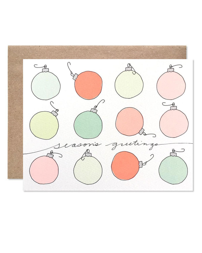Little hartland brooklyn paper+party Holiday Bulb Card