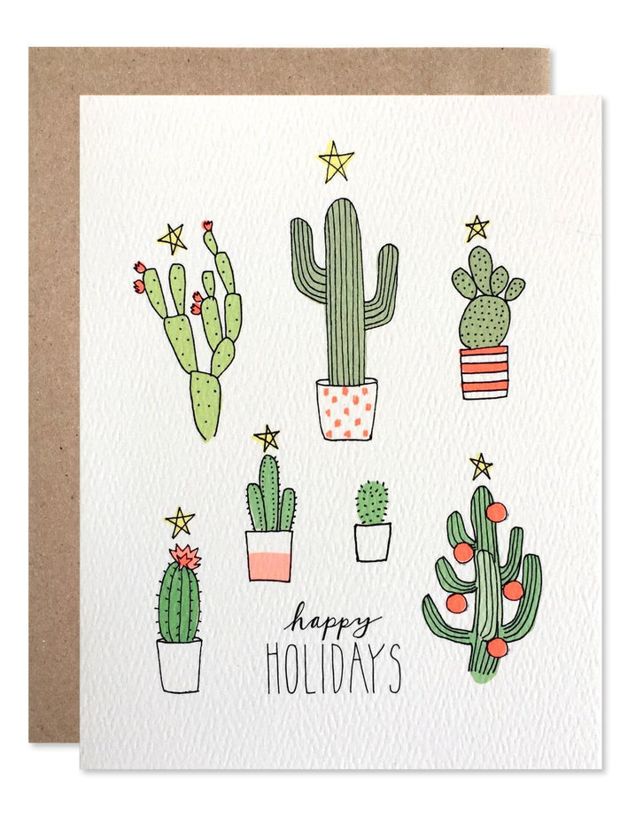 Little hartland brooklyn paper+party Holiday Cactus Card