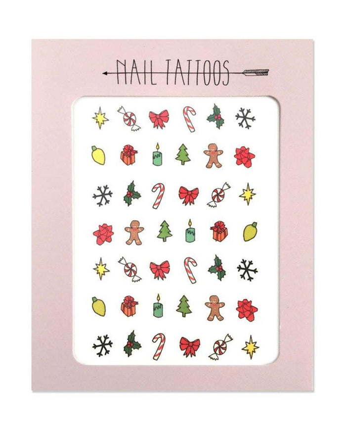 Little hartland brooklyn paper+party Holiday Nail Tattoos