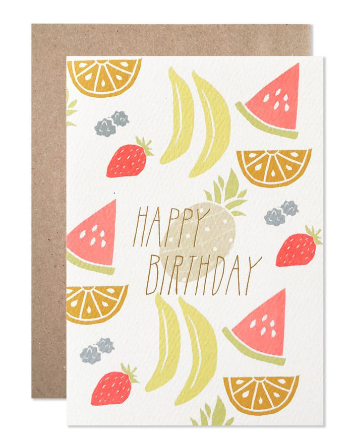 Little hartland brooklyn paper+party neon fruit birthday card