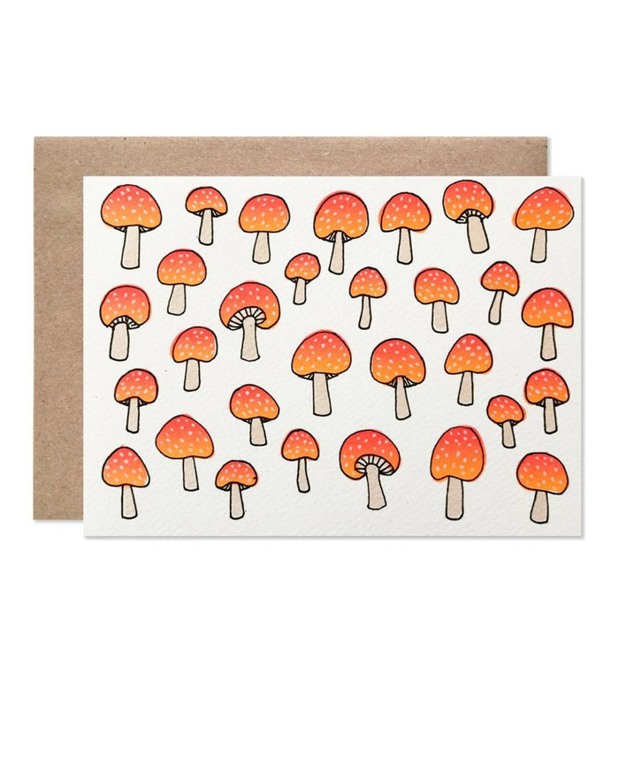 Little hartland brooklyn paper+party Neon Mushroom Card