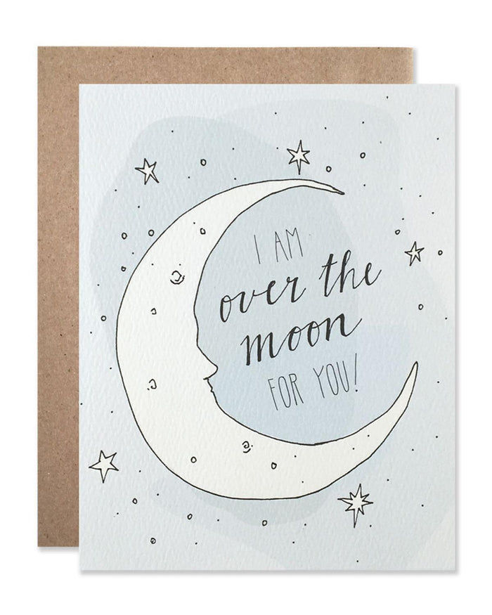 Little hartland brooklyn paper+party Over the Moon Card